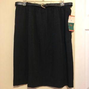 NWT Womens Pencil Skirt 24W w/ Belt Nice!